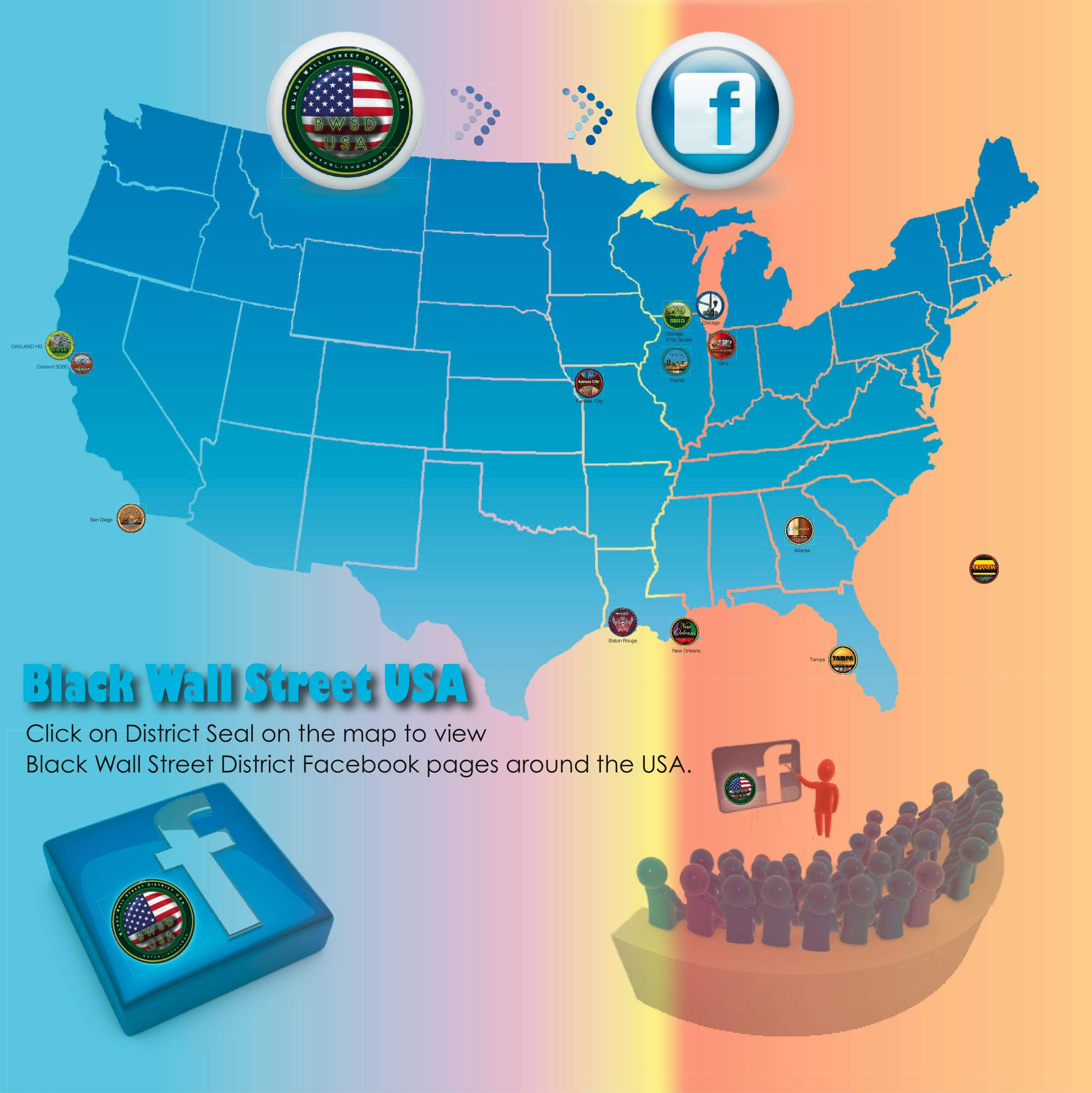Facebook Clickable Map Page